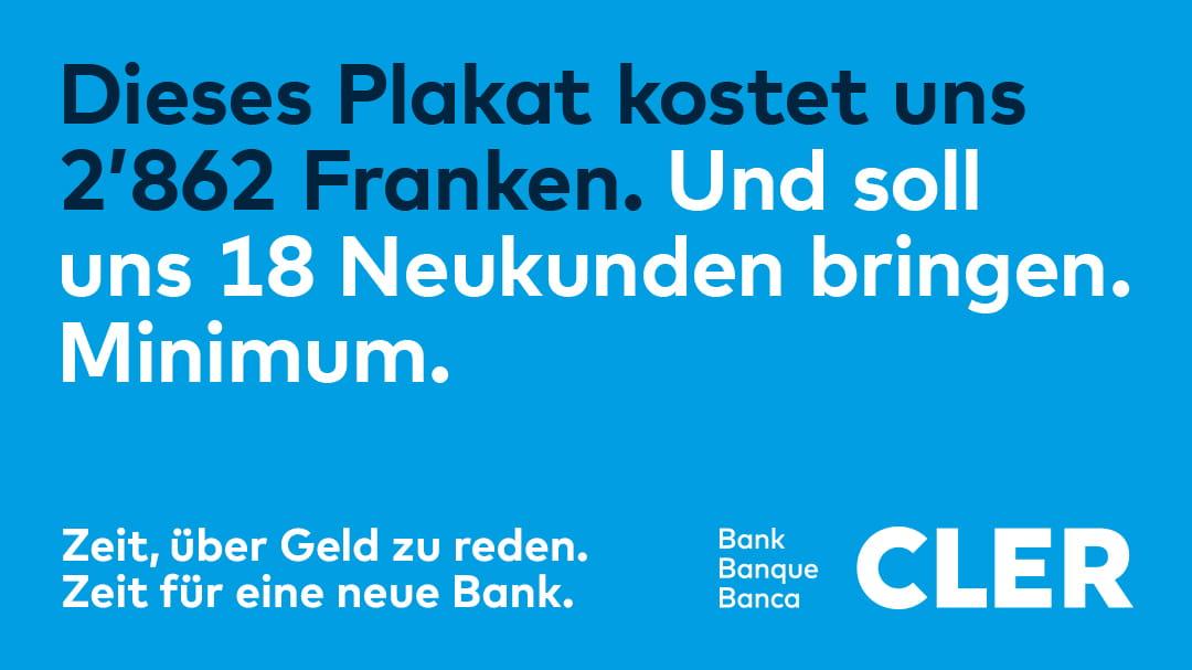Bank Cler Plakat